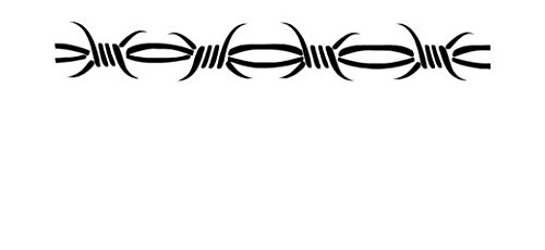 Barbed Wire Barb Tribal - Vinyl Decal Sticker, Die cut vinyl decal for windows, cars, trucks, tool boxes, laptops, MacBook - virtually any hard, smooth surface (Wire Barbed Decals)