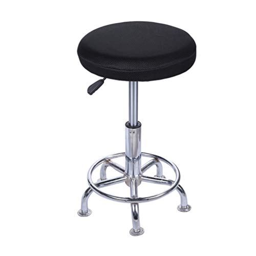 """Lominc 15"""" Round Bar Stool Cover, Breathable Fabric to Proctect Your Stool Chairs, Pack of 2"""