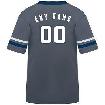 カスタマイズ名前/ Number On Back )ポリ/コットンアスレチックスポーツストライプスリーブジャージー/シャツサッカー、フットボール、カジュアル、学校。。。。21色、子供/大人サイズ8。 B00FL4R2T2 Medium|Graphite/Navy/White Sleeves Graphite/Navy/White Sleeves Medium