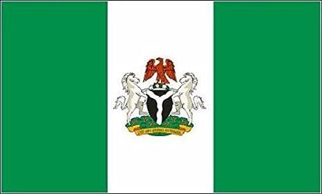 U24 motocicleta bandera de Nigeria con escudo de armas bandera 20 ...