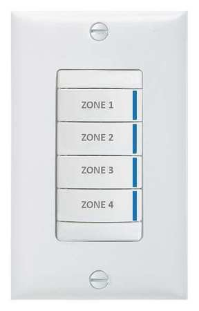 Digital Wall Switch Wall White by ACUITY LITHONIA
