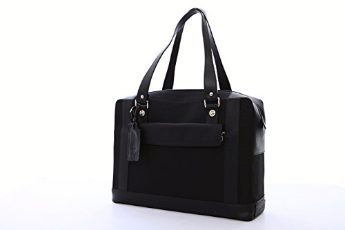 Cortiglia Marina Black Tennis Bag by Cortiglia