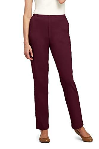 Lands' End Women's Sport Knit High Rise Elastic Waist Pull On Pants - Elastic Waist Jersey Knit Pants