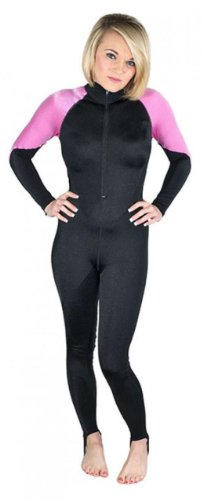 Storm Pink and Black Lycra Scuba Diving Skin - Size X-Small
