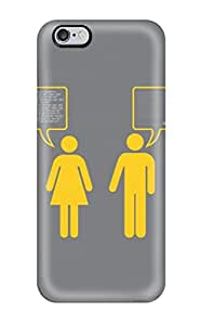 Snap-on Case Designed For Iphone 6 Plus- Funny He And She