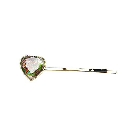 - TAMARUSAN Hairpin Heart Pansy Gold Ornament Detachable
