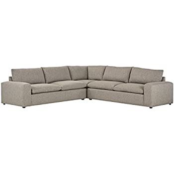 Stone & Beam Hoffman Down-Filled Performance Fabric Living Room Sectional Sofa Couch, 127