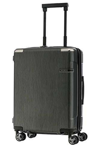best service 8fdaf 2e3f6 SAMSONITE Evoa Polycarbonate 55 cms Brushed Black Hardsided Cabin Luggage  (SAM SP55 20-BRUSHED Black)  Amazon.in  Bags, Wallets   Luggage