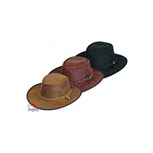 Scippis Leder Westernhut Cowboyhut »Hooley« Braun (L)