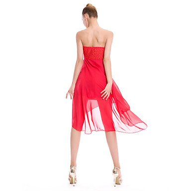 XL de de Blanco Rosa XL Poliéster WHITE Ropa Noche Dancewear Ropa Azul Rojo Cinta Cinturón Negro Gasa Noche Unitardos Paramujer zwggqHBx7