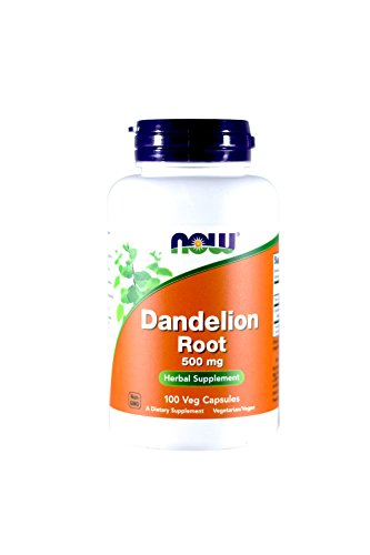 Dandelion Root Capsules (NOW  Dandelion Root 500mg, 100 Capsules (Pack of 3))