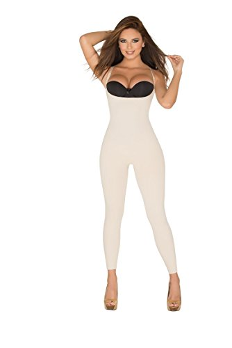 Capri Body Shaper (ShapEager Braless Body Shaper Women Full Bodysuit Thermal Braless Capri)