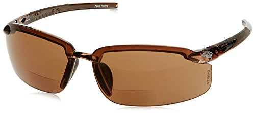 CrossFire Crossfire Safety Glasses Es5 1.5 Diopter Brown Frame Brown Mirror Lens - Frame Brown Mirror Lenses