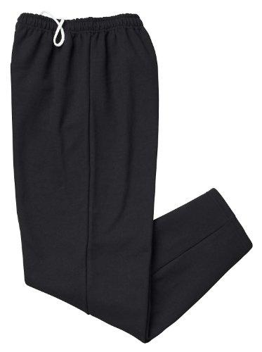Gildan Activewear 50/50 Open-Bottom Sweatpants, 3XL, Black