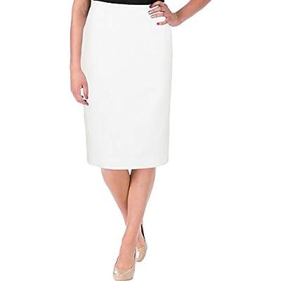 Le Suit Womens Petites Nantucket Textured Dot Print Pencil Skirt