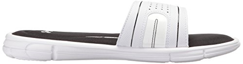 Under Armour Womens Ignite VII Slide Sandal White/Black