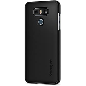 Spigen Thin Fit LG G6 Case with SF Coated Non Slip Matte Surface for Excellent Grip and QNMP Compatible for LG G6 (2017) - Black