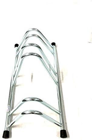 Porte-v/élos pour 3 v/élos /électrozingu/é R/âtelier Range-v/élo argent/é avec Embouts en PVC Noir Andrys R/âtelier Range v/élo au Sol pour ext/érieur et int/érieur 1003EC