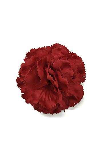 M&S Schmalberg Satin Carnation Fabric Flower Pin Brooch - Hand-Made in New York's Garment Center (American Made)