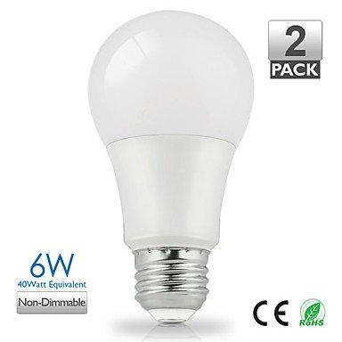 Luces Bombillas, ZDM 2pcs vanlite e27 6 W 500Lumen lámpara LED A60 para hogar,