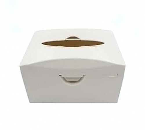 SoHome 45MM Dental Post Mount Utility Paper Tissue Box for Dental Unit Chair(3 colors for choose) (White)
