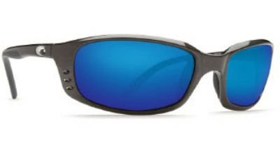 Costa Del Mar Brine Sunglasses, Gunmetal, Blue Mirror 580G - Costa Brine Lenses