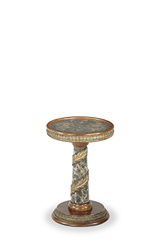 Michael Amini Villa Valencia Chair Side Table, Classic Chestnut by Michael Amini