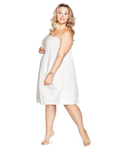 (Camo Chique Luxury Spa Wrap Womens Bath Shower Towel Wrap (White, 6XL 5 X 6X))