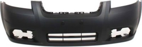Crash Parts Plus Primed Front Bumper Cover Replacement for 2007-2011 Chevrolet Aveo Sedan