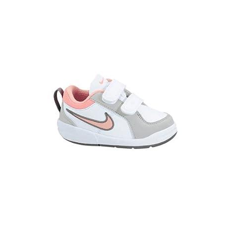 Nike Pico 4 (TDV) - Zapatillas de Tenis para bebé - tamaño: 10c, Color: White/Plrzd pnk Strt gry cl gr: Amazon.es: Zapatos y complementos