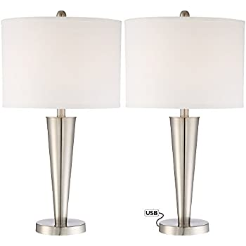 Justin 18 Quot High Metal Accent Lamps With Usb Ports Set Of 2