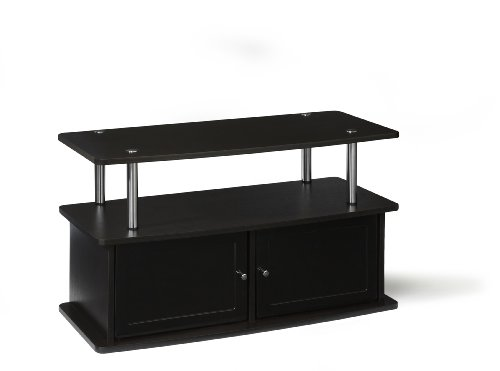 Convenience Concepts Designs2Go TV Stand with 2 Cabinets for Flat Panel TV's Up to 36-Inch or 80-Pound, Dark Espresso