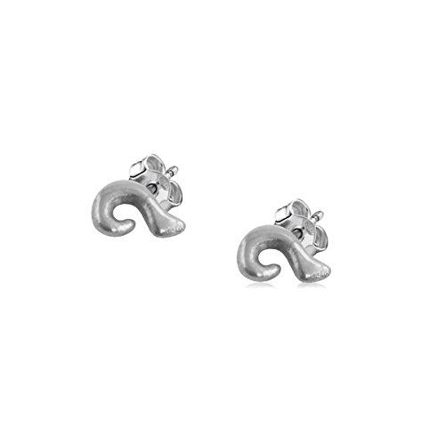 Wave Earrings - Sterling Silver Stud Earrings Jewelry by Dayna Designs