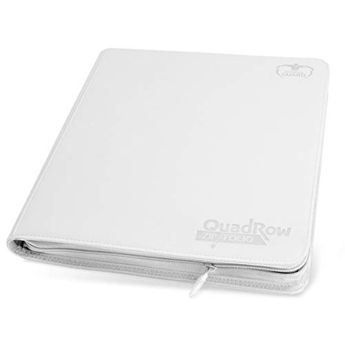 Ultimate Guard XenoSkin Quadrow Zipfolio 12 Pocket Card Storage Binder Portfolio White by Ultimate Guard (Image #1)