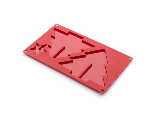 Lekue 3D Big Xmas Tree Mold, Red ()