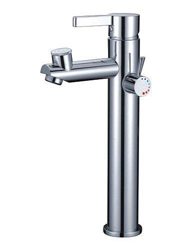 Einhand-Chrom Centerset Waschbecken Wasserhahn mit zWei?T¨¹llen (1239-l-1001-1c)