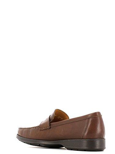 Mephisto HOWARD DESERT 9251 DARK BROWN - Zapatillas de casa de cuero hombre marrón