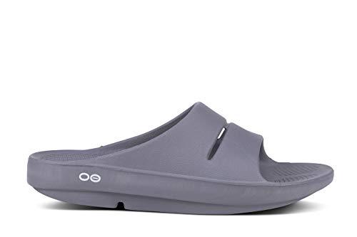 OOFOS Women's Unisex Slide Sandal,Slate,9 B(M) US Women / 7 D(M) US Men