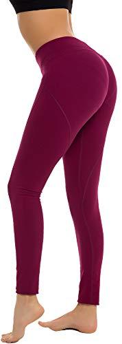 - RUNNING GIRL Butt Lift Leggings Scrunch Butt Push Up Leggings Yoga Pants for Women Shapewear Skinny Workout Tights (XXL, Fuchsia)