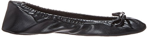 Sidekicks Womens Foldable Ballet Flats Black jvOhggn