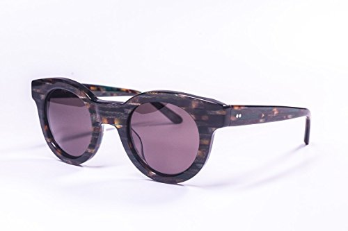 Vintage Handcrafted Acetate Sunglasses For Men & Women - Distinctive Handmade Italian Acetate Frame Eyewear- Robinson (Herring Bone -