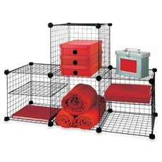 Amazoncom Grid Wire Modular Shelving and Storage Cubes Kitchen