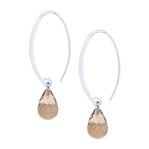 ne Smokey Quartz Sweep Dangle Earrings ()