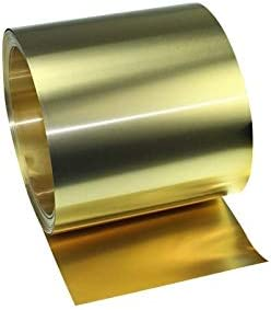 without 1Meter//ROLL Thin Brass Strip Thickness 0.01//0.02//0.03//0.04//0.05MM*W100MM Brass Sheet Gold Film Brass Foil Brass Plate H62 Color : Length 1Meter, Size : T0.01 X Width100mm