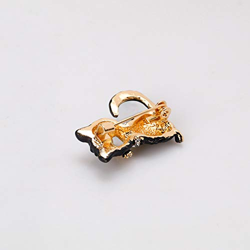 Fansi 1 PC Fashion personality black cat brooch creative alloy drop oil new brooch