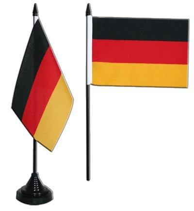 Flaggenfritze/® Tischflagge Spanien mit Wappen 10x15 cm