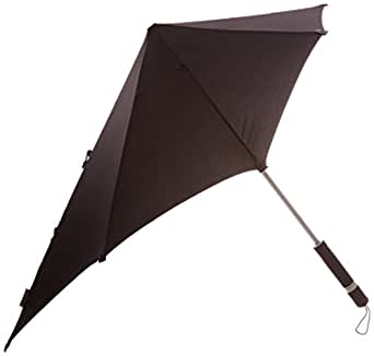 "30"" SENZ Stick Umbrella - 36.5"" Windproof Canopy by Totes (Black)"