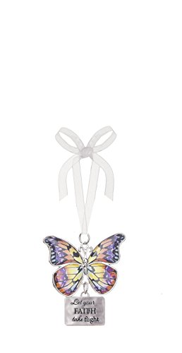 Ganz Home Decor Christmas/Spring Blissful Journey Butterfly Ornament (Let You Faith take Flight EA13540) by Ganz