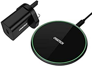 15W Fast Wireless Charger, CHOETECH QI Wireless Charging Pad 7.5W Compatible with iPhone 11/11 Pro Max/XS/XS Max/XR/X/8/8+, 10W Fast Charge Samsung Note 10/S10/S9/S9+,Note 9/8, etc.(Adapter Included)