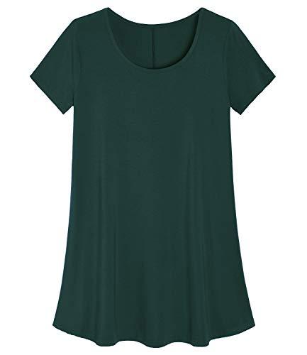 Latuza Women's Plus Size Tunic Shirt Swing Tunic Top 4X Forest -